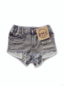 Grey Hilo Distressed Shorties
