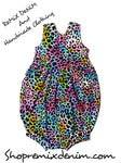 Rainbow Leopard Bubble Romper
