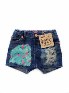 Flamingo Distressed Shorts