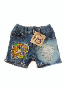 Toy Story Distressed Shorts