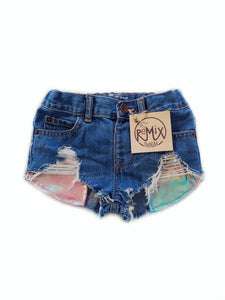 Cotton Candy Hilo Distressed Shorties