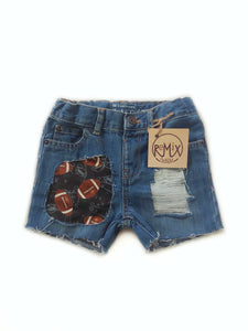 Football Distressed Shorts (Boy and Girl)
