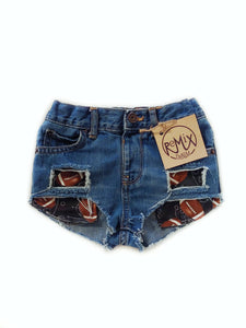 Football Distressed Hilo Shorties