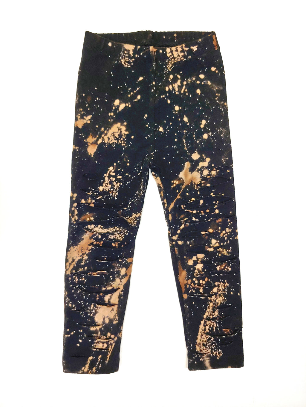 Acid Splashed Distressed Leggings