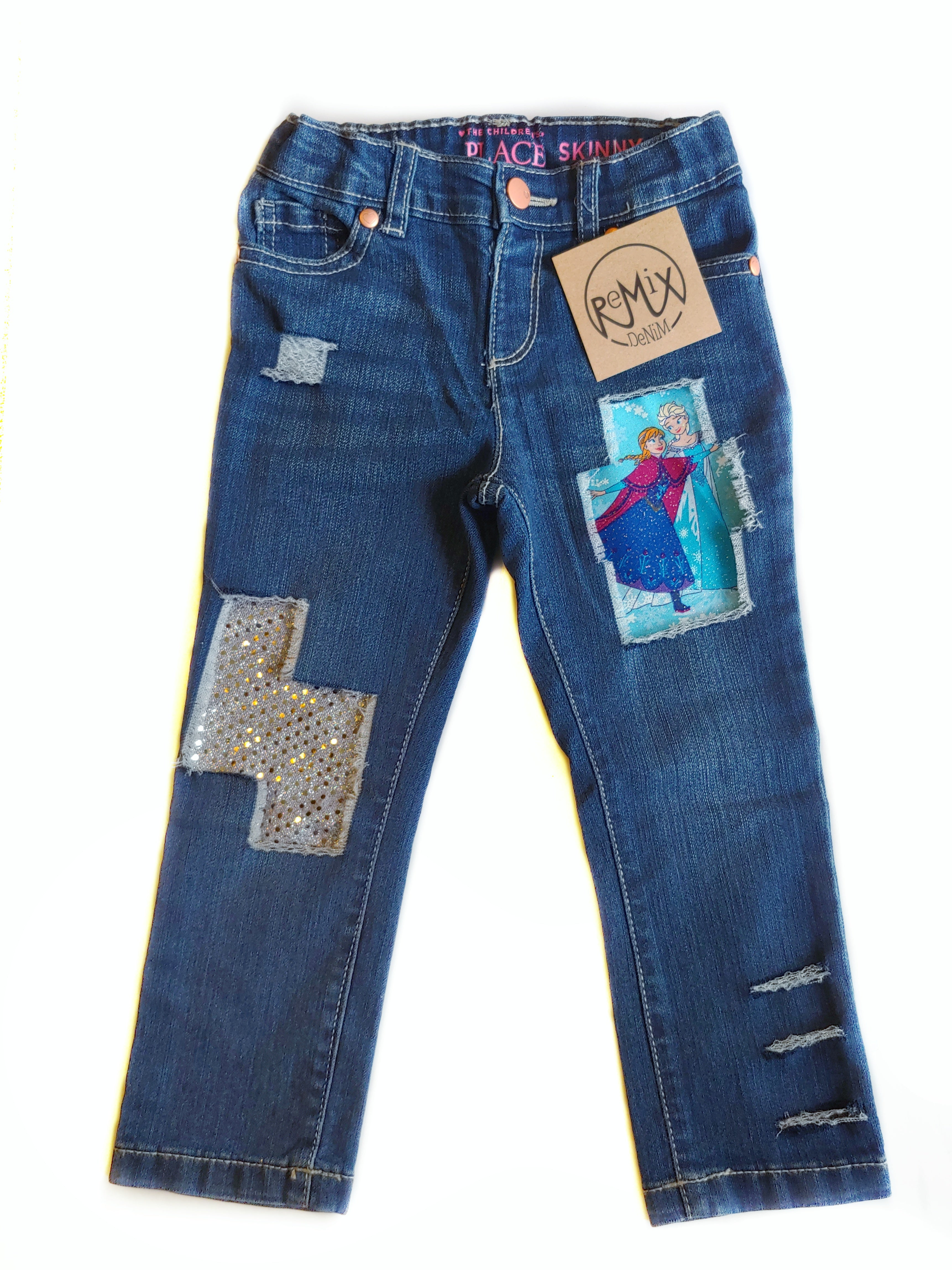 Frozen Sisters Distressed Jeans