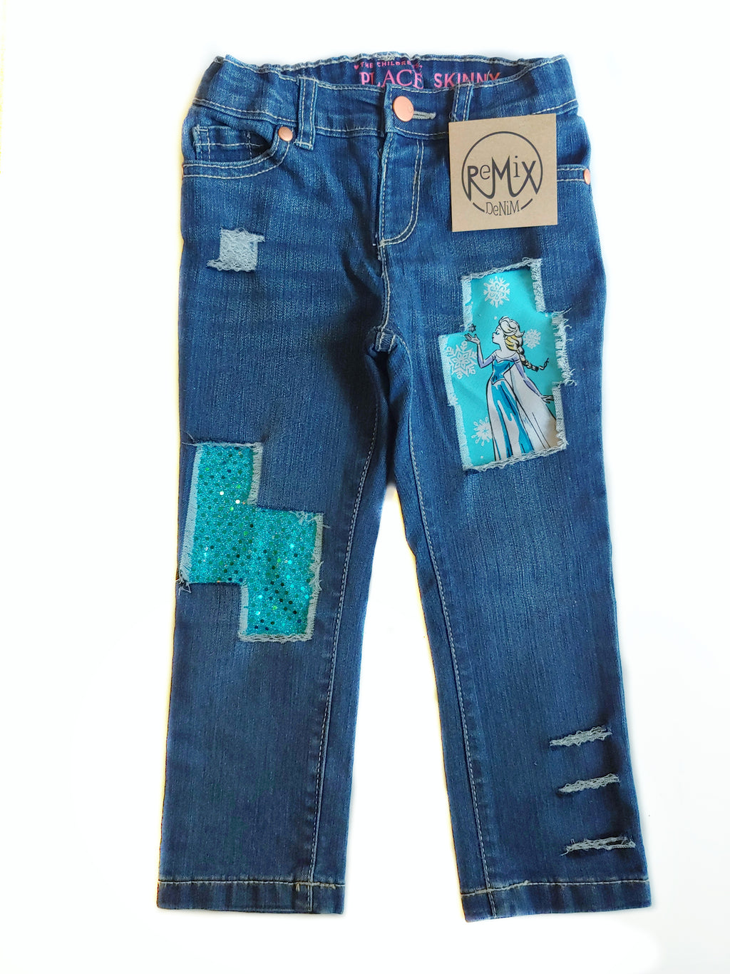 Elsa Frozen Distressed Jeans