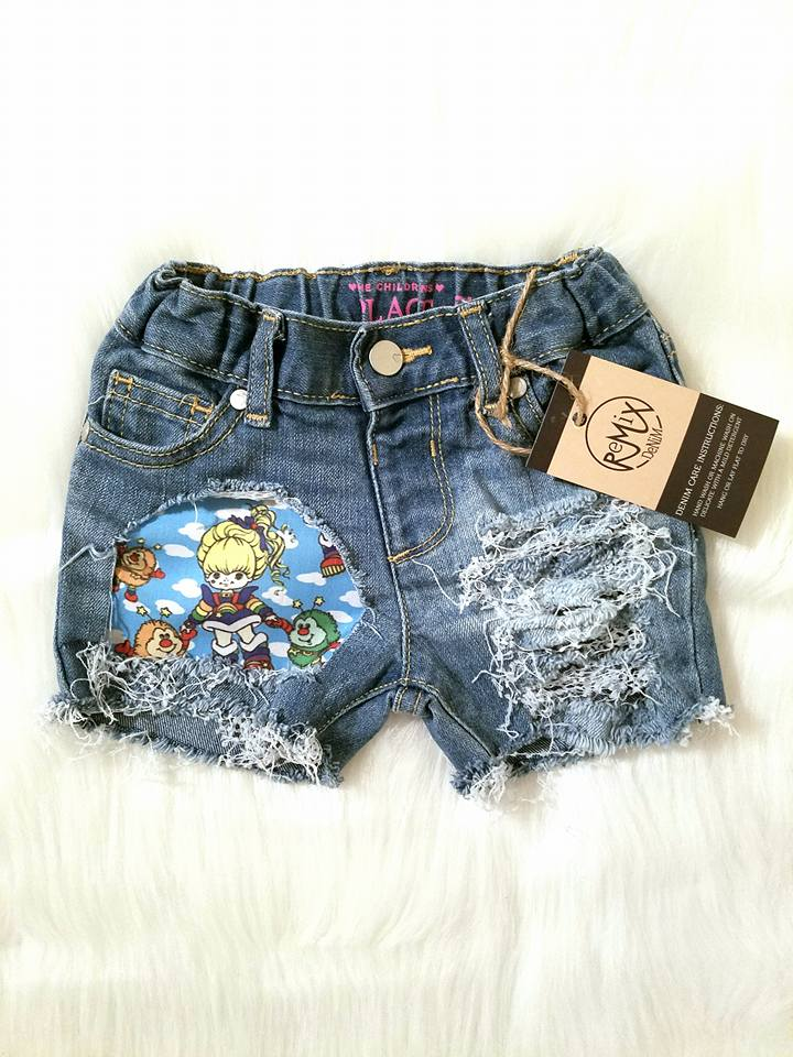 Rainbow Brite Peekaboo Distressed Shorties
