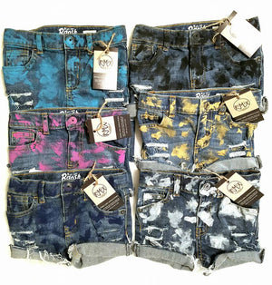 Single Color Distressed Standard Shorts
