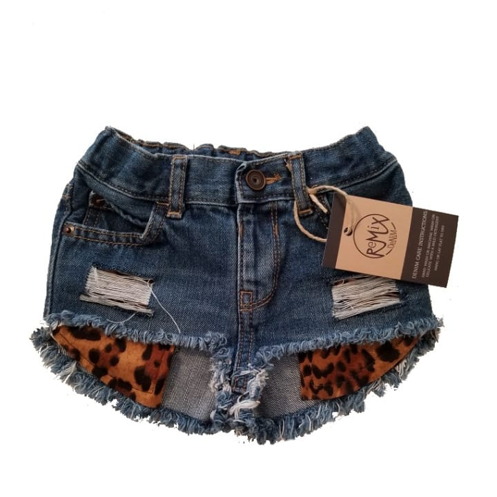 Hilo Leopard Pocket Distressed Shorties