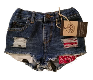 Hilo Cowgirl Pocket Distressed Shorties