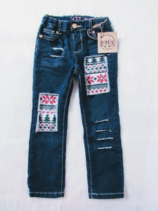 Fair Isle - Ugly Christmas Sweater Distressed Boys Jeans