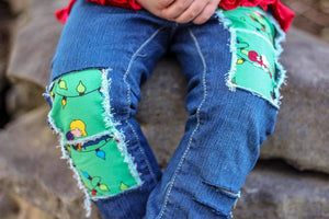 Peanuts Classic Christmas Distressed Boys Jeans