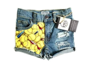 Softball Distressed Shorties