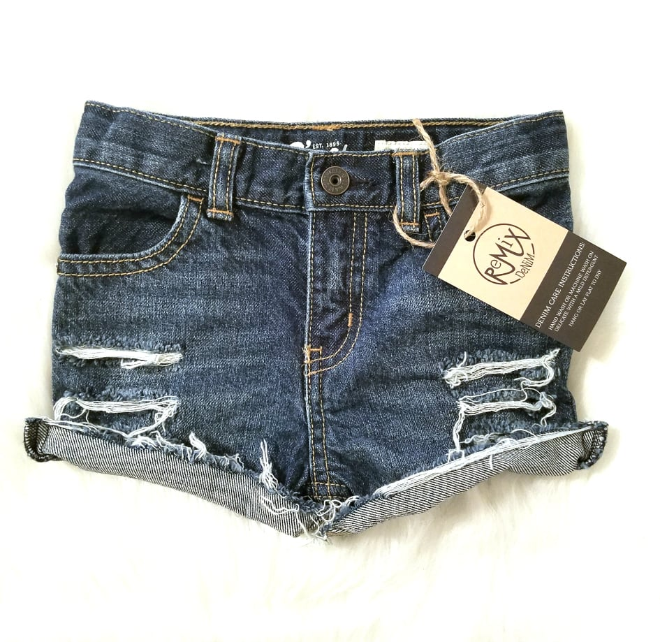 Standard Distressed Shorts, Unisex Fit