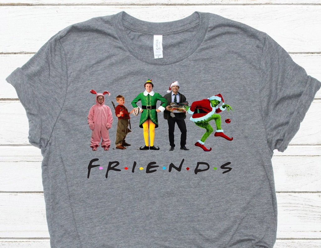 Christmas Friends Tshirt Adult