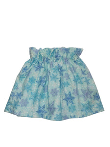 Blue Snowflakes Paperbag Skirt