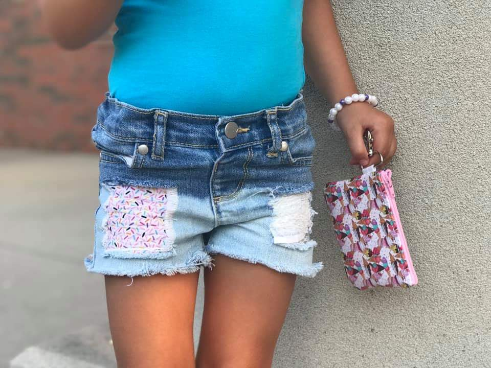 Sprinkles Distressed Shorts