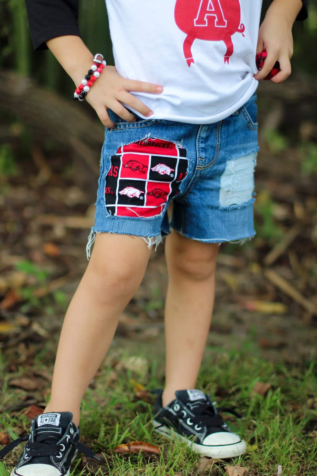 Custom Team Distressed Shorts (Boy and Girl)