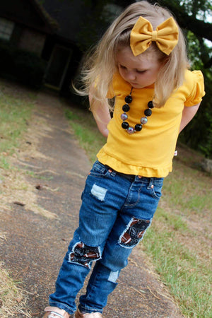 Football Distressed Jeans (Boy and Girl)