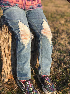 Basic Acid Splashed Distressed Jeans