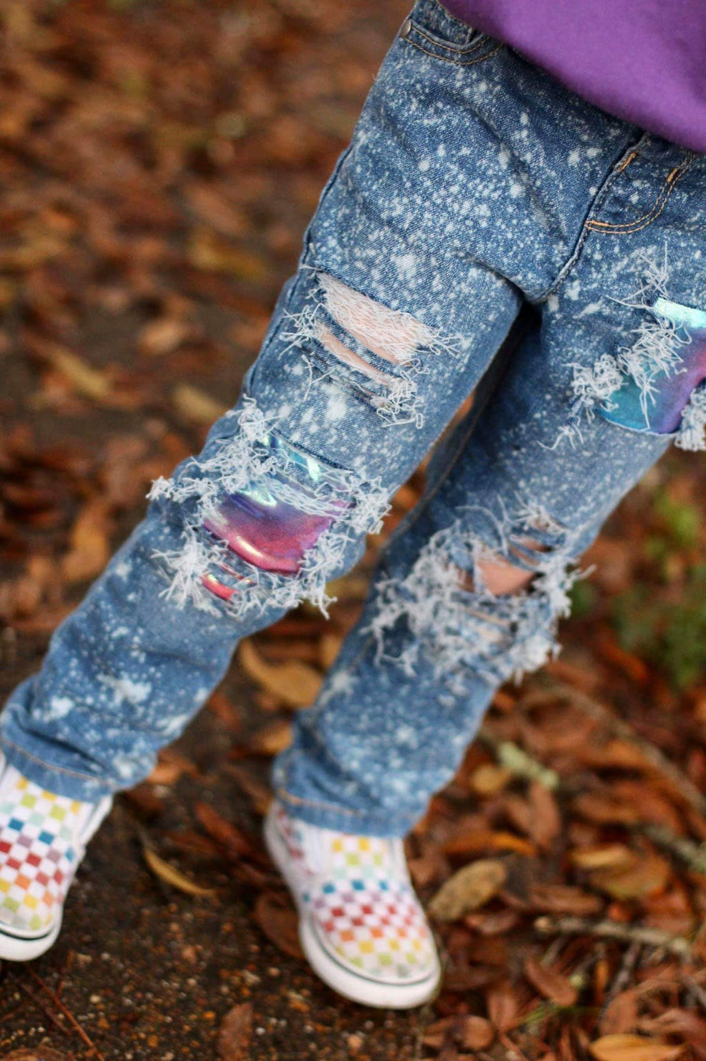 Cotton Candy Dreams Distressed Jeans
