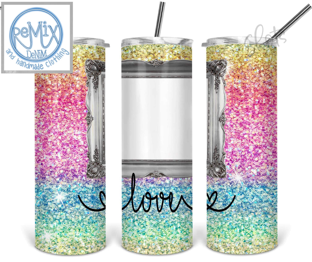 Rainbow Love (Customize with Photo) 20oz Skinny Tumbler