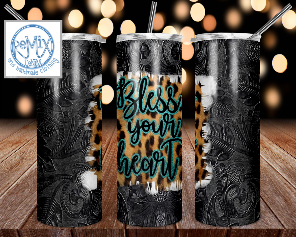 Bless Your Heart 20oz Skinny Tumbler