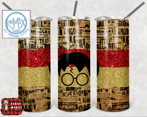 HP Newspaper (Red/Gold) 20oz Skinny Tumbler