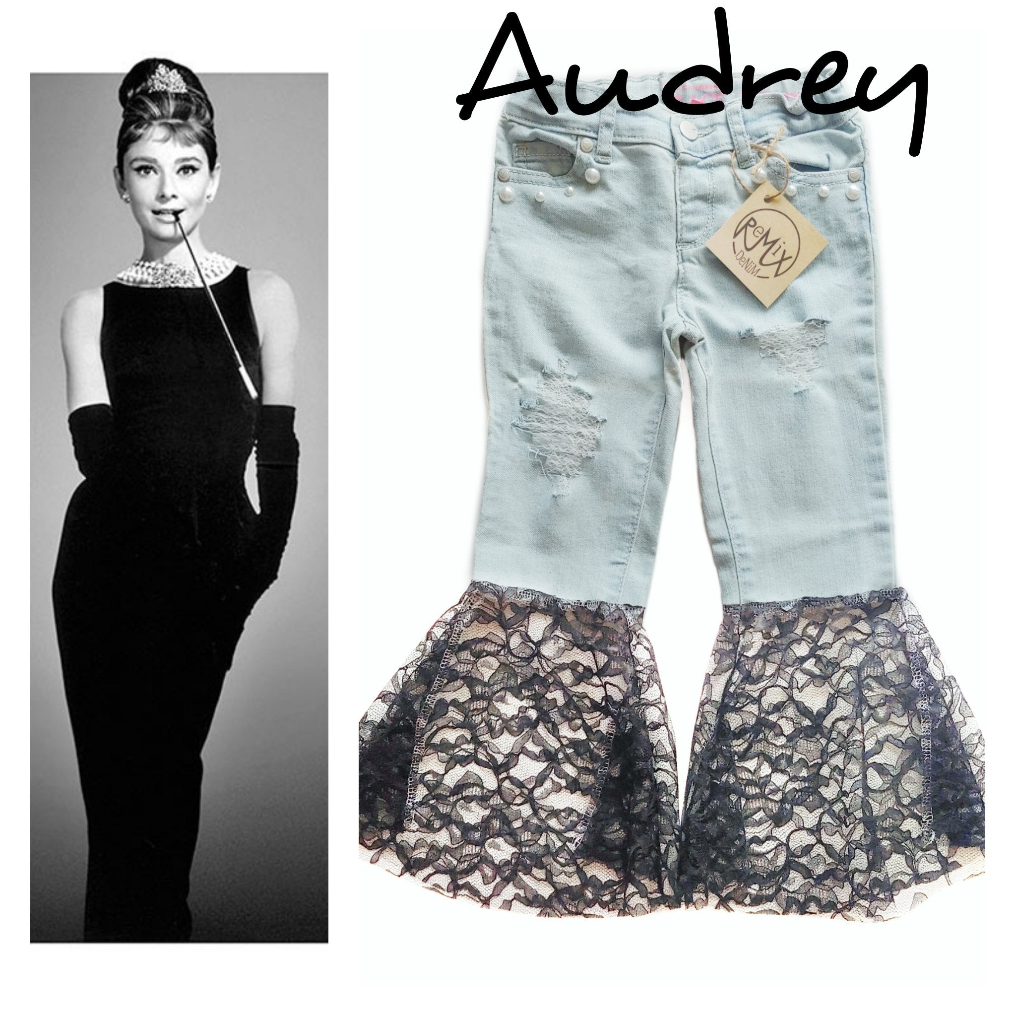 Audrey Distressed Bell Bottoms