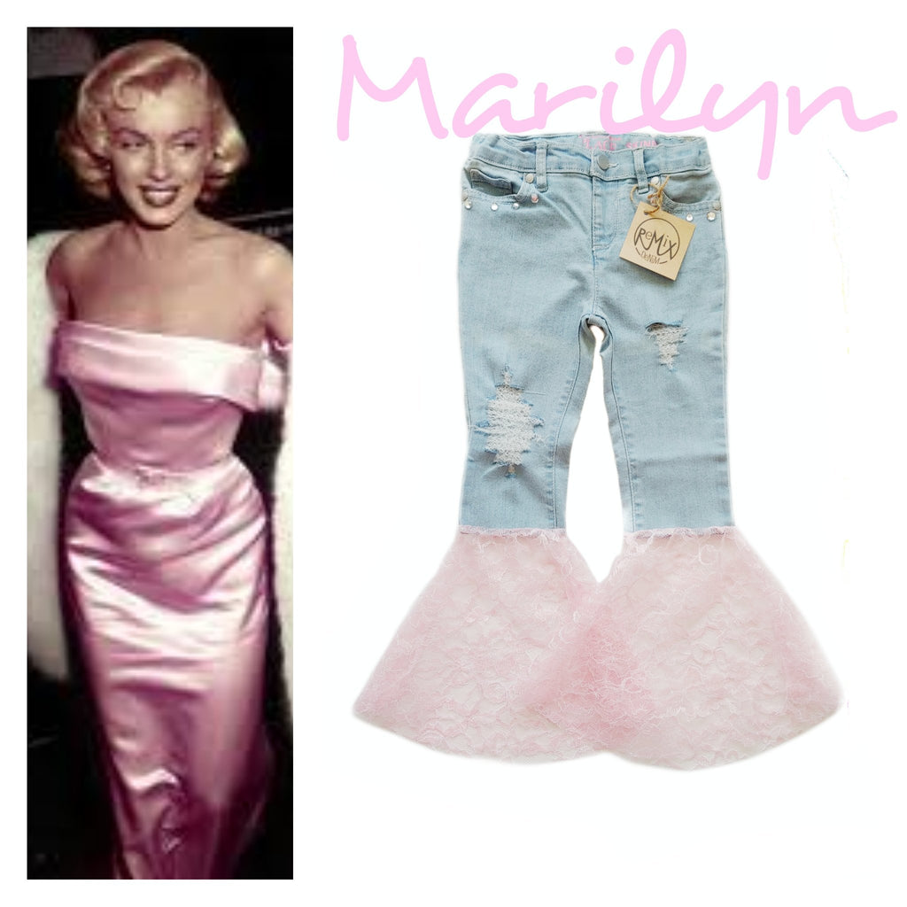 Marilyn Distressed Bell Bottoms