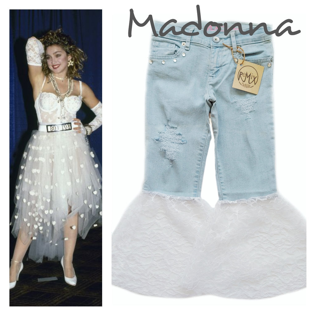 Madonna Distressed Bell Bottoms