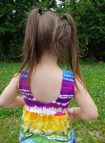 Rainbow Stripe Tiedye Bubble Romper