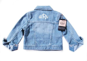 Distressed Denim Jacket (Monogram or Name Add On)