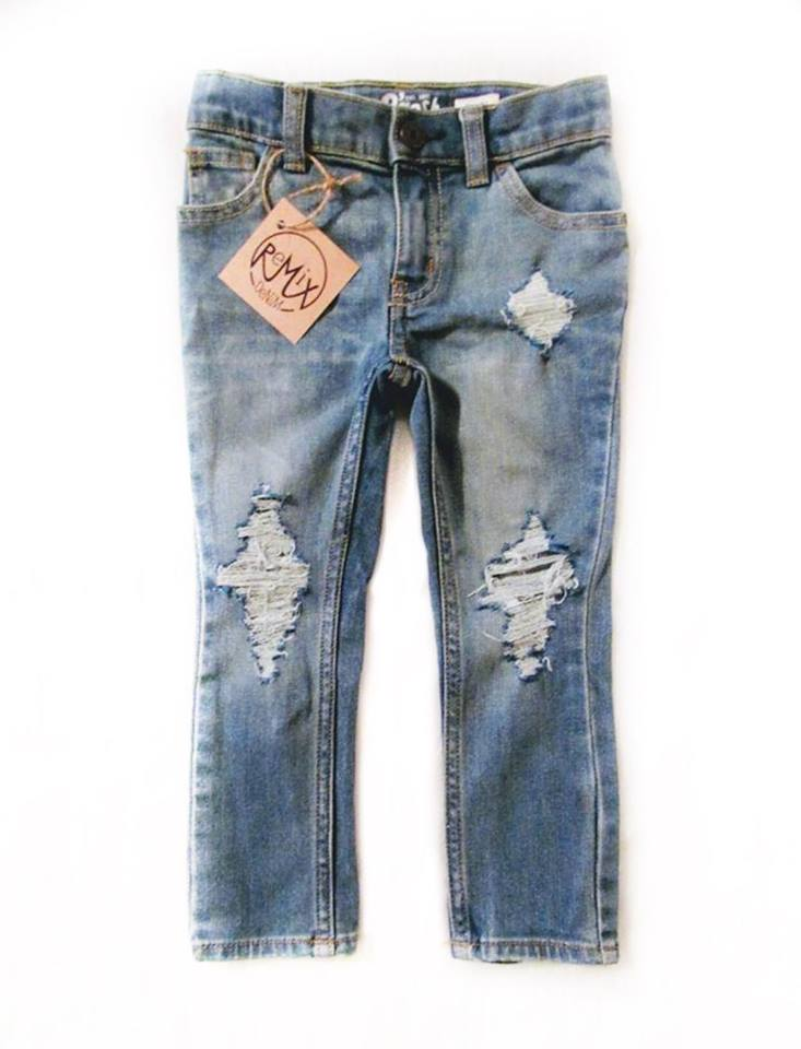 Standard Distressed Jeans, Unisex Fit
