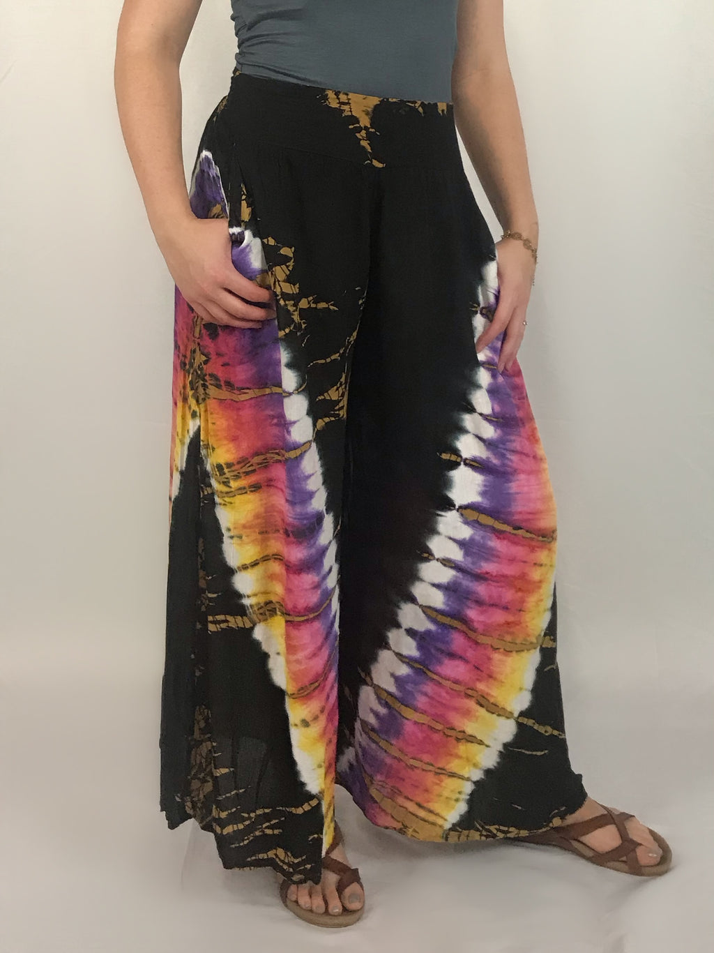 Chevron Ice Dyed Flow Pants