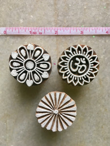 Set of 3 Round Stamps