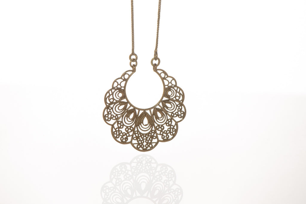 Lace Crescent Necklace