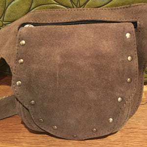 Large Studded Suede Hip Belt