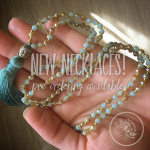 New Beaded Mala Necklaces