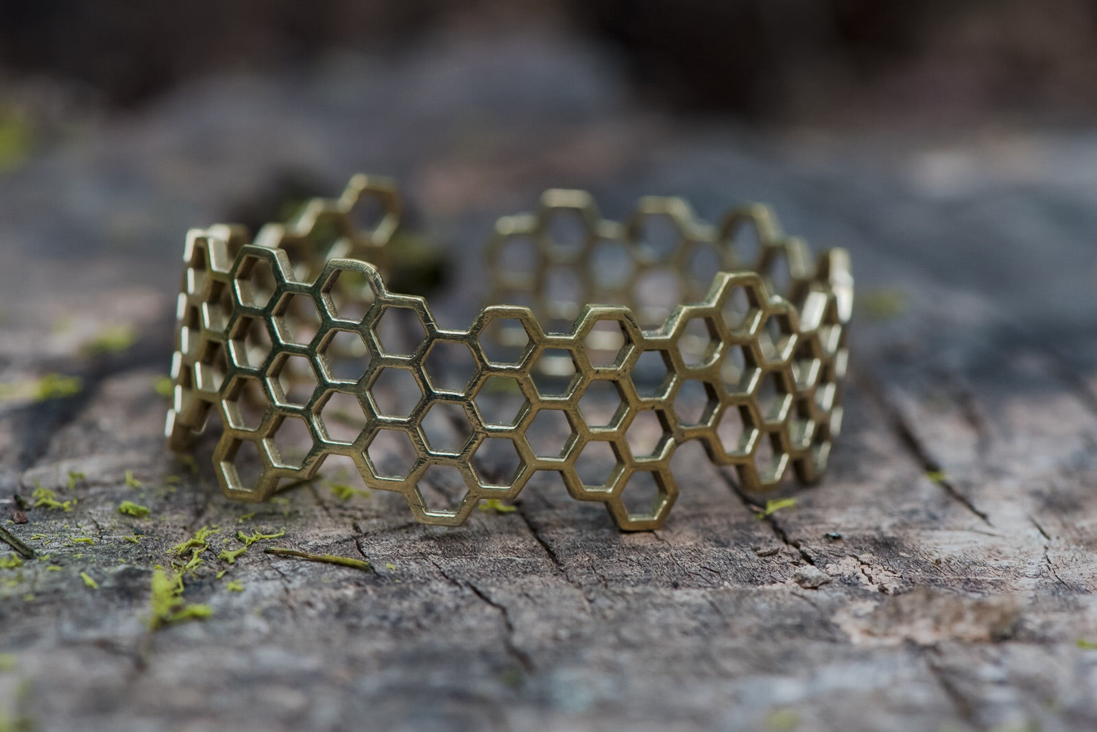 Adjustable Bee Honey Comb Bracelet