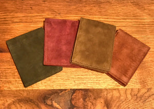 Men's Suede Bifold Wallets