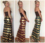Golden Aztec Maxi Mermaid Skirt