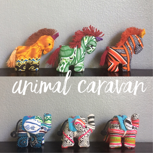 Tiny Stuffed Caravan Animals