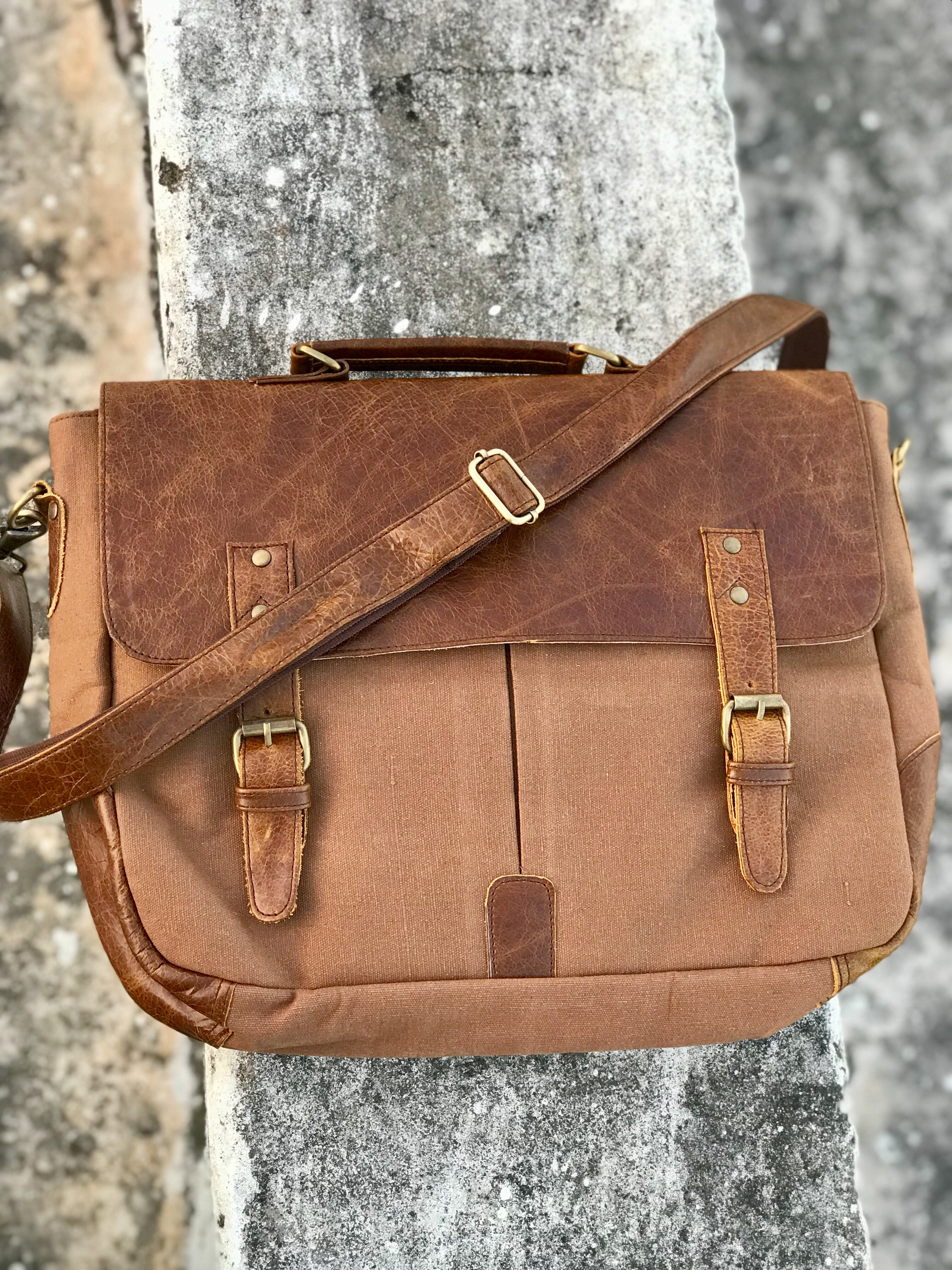 Canvas & Leather Messenger