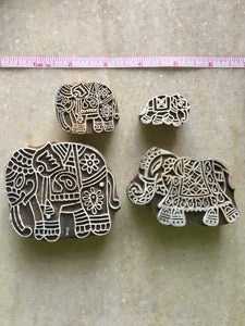 Set of 4 Elephant Stamps