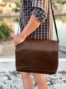 Brown Leather Messenger