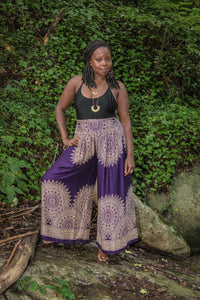 Purple Mandala Flow Pants