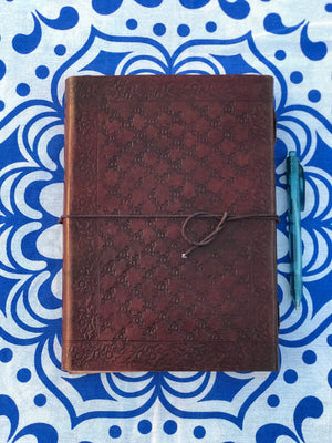 7x10 Camel Leather Journal