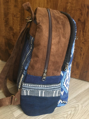 Blue Denim Diamonds Backpack