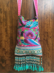 Embroidered Peasant Beaded Sling